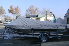 Weldcraft 188 Rebel, Aluminum Fishing Boat w/High Windshield Mounted Forward, Styled to Fit, Poly-Guard, Haze Gray